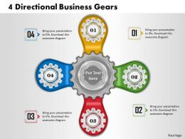 1013 Business Ppt diagram 4 Directional Business Gears Powerpoint Template