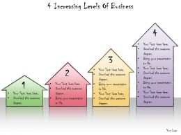 1013 Business Ppt Diagram 4 Increasing Levels Of Business Powerpoint Template
