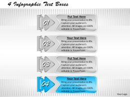 1013 Business Ppt diagram 4 Infographic Text Boxes Powerpoint Template