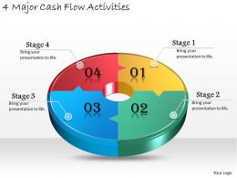 1013_business_ppt_diagram_4_major_cash_flow_activities_powerpoint_template_Slide01