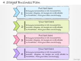 1013 Business Ppt Diagram 4 Staged Business Plan Powerpoint Template