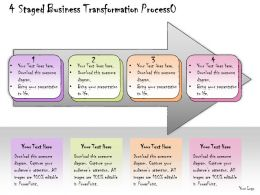 1013 Business Ppt Diagram 4 Staged Business Transformation Process Powerpoint Template