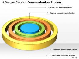 1013 Business Ppt diagram 4 Staged Circular Communication Process Powerpoint Template
