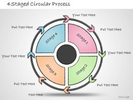 1013 Business Ppt Diagram 4 Staged Circular Process Powerpoint Template