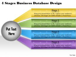 1013 Business Ppt diagram 4 Stages Business Database Design Powerpoint Template
