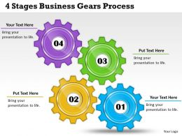 1013 Business Ppt diagram 4 Stages Business Gears Process Powerpoint Template