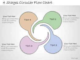 1013 Business Ppt Diagram 4 Stages Circular Flow Chart Powerpoint Template