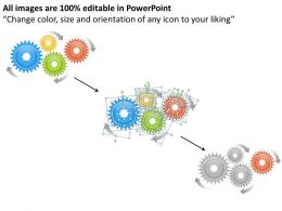 1013 Business Ppt diagram 4 Stages Gears Business Process Flow Chart Powerpoint Template