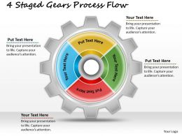 1013 Business Ppt diagram 4 Stages Gears Process Flow Powerpoint Template