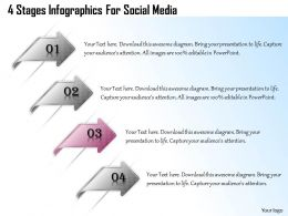 1013 Business Ppt diagram 4 Stages Infographics For Social Media Powerpoint Template