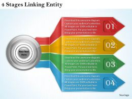 1013 Business Ppt diagram 4 Stages Linking Entity Powerpoint Template