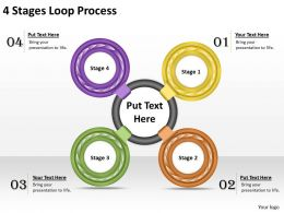 1013 Business Ppt diagram 4 Stages Loop Process Powerpoint Template