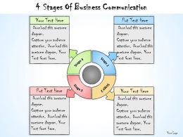 1013 Business Ppt Diagram 4 Stages Of Business Communication Powerpoint Template