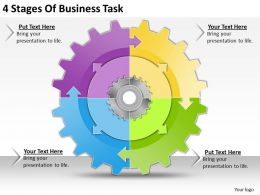 1013 Business Ppt diagram 4 Stages Of Business Task Powerpoint Template