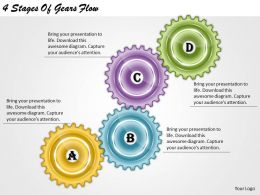1013 Business Ppt diagram 4 Stages Of Gears Flow Powerpoint Template