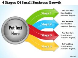 1013 Business Ppt diagram 4 Stages Of Small Business Growth Powerpoint Template