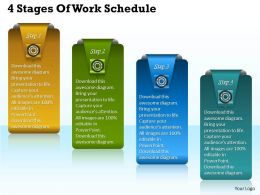 1013 Business Ppt diagram 4 Stages Of Work Schedule Powerpoint Template