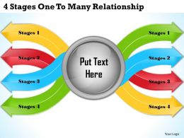 1013 Business Ppt diagram 4 Stages One To Many Relationship Powerpoint Template