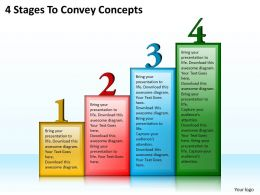 1013 Business Ppt diagram 4 Stages To Convey Concepts Powerpoint Template