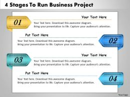1013 Business Ppt diagram 4 Stages To Run Business Project Powerpoint Template