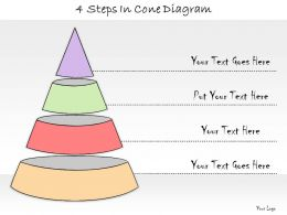 1013 Business Ppt Diagram 4 Steps In Cone Diagram Powerpoint Template