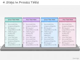 1013 Business Ppt Diagram 4 Steps In Process Table Powerpoint Template