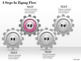 1013 Business Ppt diagram 4 Steps In Zigzag Flow Powerpoint Template