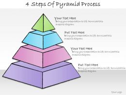 1013 Business Ppt Diagram 4 Steps Of Pyramid Process Powerpoint Template