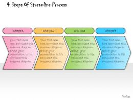 1013 Business Ppt Diagram 4 Steps Of Streamline Process Powerpoint Template
