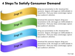 1013 Business Ppt diagram 4 Steps To Satisfy Consumer Demand Powerpoint Template