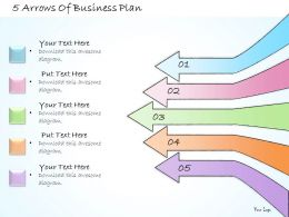 1013 Business Ppt Diagram 5 Arrows Of Business Plan Powerpoint Template