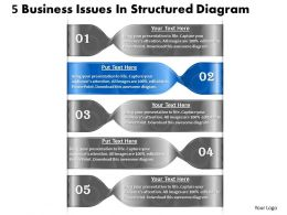 1013 Business Ppt diagram 5 Business Issues In Structured Diagram Powerpoint Template