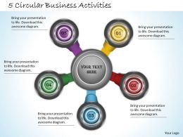 1013 Business Ppt diagram 5 Circular Business Activities Powerpoint Template