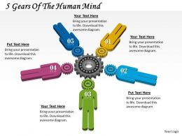 1013 Business Ppt diagram 5 Gears Of The Human Mind Powerpoint Template