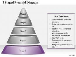 1013 Business Ppt diagram 5 Staged Pyramid Diagram Powerpoint Template