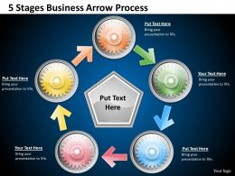 1013 Business Ppt diagram 5 Stages Business Arrow Process Powerpoint Template