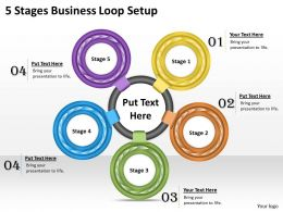 1013 Business Ppt diagram 5 Stages Business Loop Setup Powerpoint Template