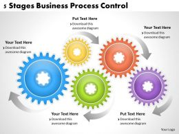 1013 Business Ppt diagram 5 Stages Business Process Control Powerpoint Template