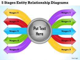 1013 Business Ppt diagram 5 Stages Entity Relationship Diagrams Powerpoint Template