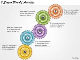 1013 Business Ppt diagram 5 Stages Flow Of Activities Powerpoint Template