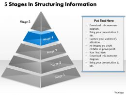 1013 Business Ppt diagram 5 Stages In Structuring Information Powerpoint Template