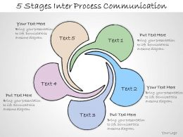 1013 Business Ppt Diagram 5 Stages Inter Process Communication Powerpoint Template