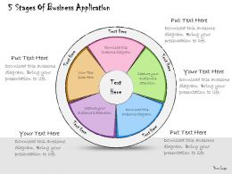 1013 Business Ppt Diagram 5 Stages Of Business Application Powerpoint Template