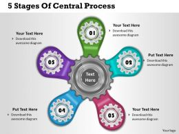 1013 Business Ppt diagram 5 Stages Of Central Process Powerpoint Template
