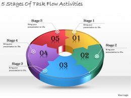 1013 Business Ppt diagram 5 Stages Of Task Flow Activities Powerpoint Template