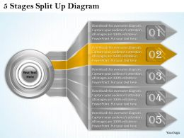 1013 Business Ppt diagram 5 Stages Split Up Diagram Powerpoint Template