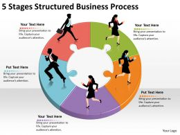 1013 Business Ppt diagram 5 Stages Structured Business Process Powerpoint Template