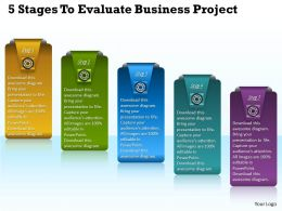 1013 Business Ppt diagram 5 Stages To Evaluate Business Project Powerpoint Template