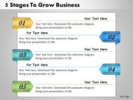 1013 Business Ppt diagram 5 Stages To Grow Business Powerpoint Template