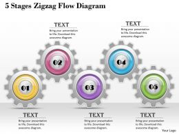 1013 Business Ppt diagram 5 Stages Zigzag Flow Diagram Powerpoint Template